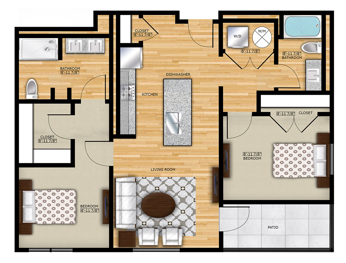 B2-Two-Bedrooms