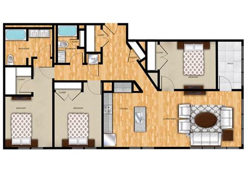 Edge C1 Patio Floor Plan